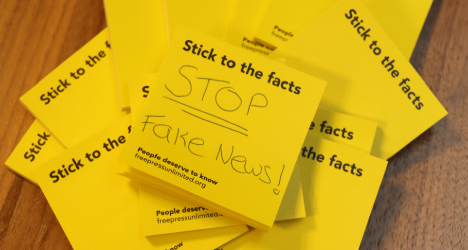 StickToTheFacts campagne